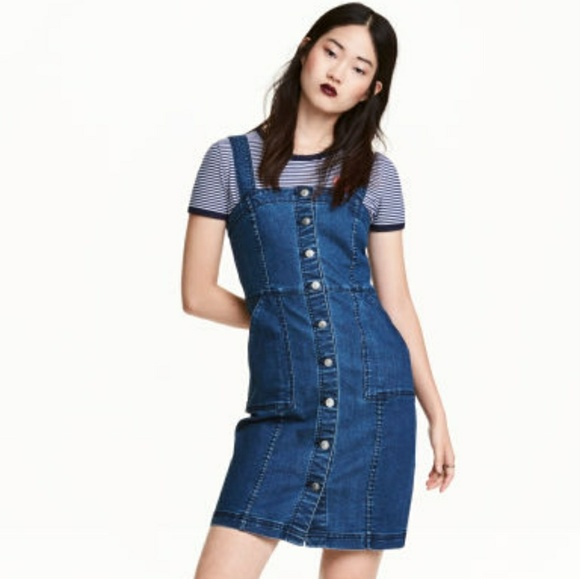 3d4342ec5f H M Dresses   Skirts - H M Denim Jumper ...